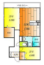 Wood lark桃山台[1階]の間取り
