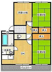 サンシャイン濱田[303号室]の間取り