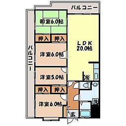 第3千秀ビル[402号室]の間取り