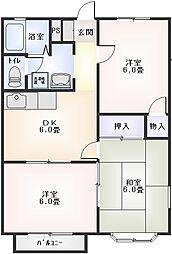 星崎第3アパート2階Fの間取り画像