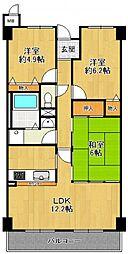 夙川レッチオ・レジデンツァ[2階]の間取り