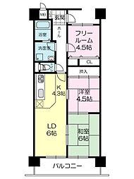 ベル・アーバニティ加古川II[3階]の間取り