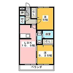 D'room京命[1階]の間取り