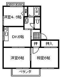 MAISON LUNA[2階]の間取り