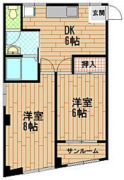 ハイツ金沢[2階]の間取り