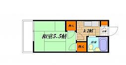 根本アパート[205号室]の間取り