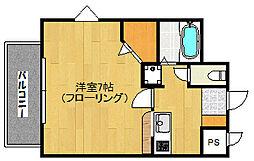 福岡県福岡市早良区西新5丁目の賃貸マンションの間取り