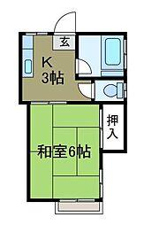 新倉荘[1階]の間取り