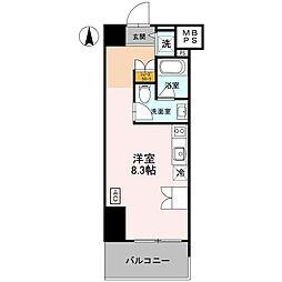 阪神本線 深江駅 徒歩2分の賃貸マンション 3階ワンルームの間取り
