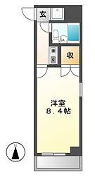 ニッシンハイツ千代田[3階]の間取り