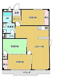第3マンダイマンション[201号室]の間取り