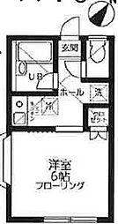 東京都世田谷区上祖師谷3丁目の賃貸アパートの間取り