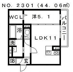プランドールK[1階]の間取り
