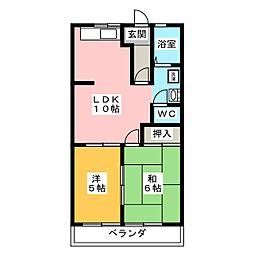 メゾンはなみずき B棟[1階]の間取り