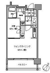 パークアクシス六本松[10階]の間取り