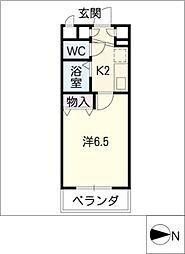 ヴェルテコート南栄[4階]の間取り