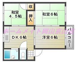MKマンション B[2階]の間取り