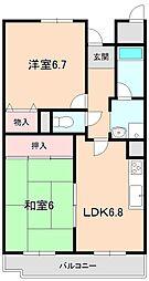 ユマン蛍苑[2階]の間取り