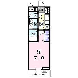 ヌーベル・オーブ・ヒル[305号室]の間取り