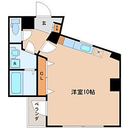 エルハイツ花京院 4階ワンルームの間取り
