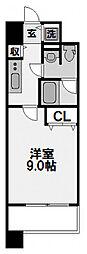 プラウドフラット新大阪[508号室]の間取り