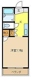 愛知県日進市赤池5丁目の賃貸アパートの間取り