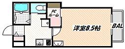 JR総武線 西船橋駅 徒歩7分の賃貸アパート 1階1Kの間取り