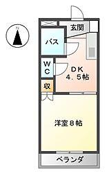 大針パークマンション[1階]の間取り