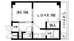 リバーサイド夙川[105号室]の間取り