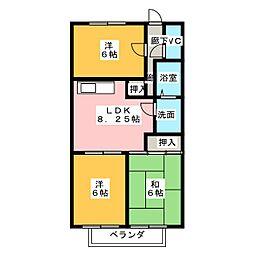 サープラススリーモリヤマ[2階]の間取り