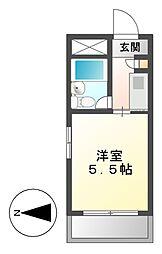 ドール呼続[2階]の間取り