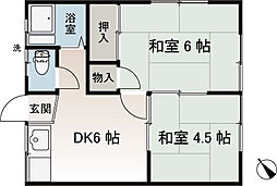 香陽荘[203号室]の間取り