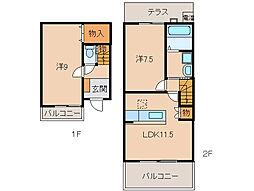 キャラハウス[1階]の間取り