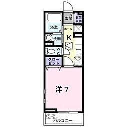 エクセル ピュア[102号室]の間取り