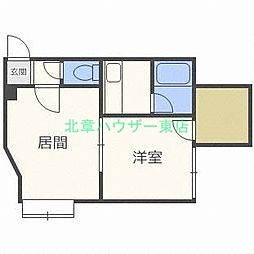 北海道札幌市東区北三十条東18丁目の賃貸アパートの間取り