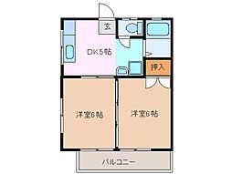 美鈴ハイツ[1階]の間取り