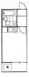 コーポマリーナ上野毛[1階]の間取り