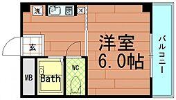 エクシード倉垣[2階]の間取り