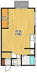 モトハシアパート[1階]の間取り