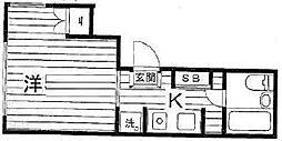 第1鈴木ビル[301号室]の間取り