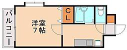 ダブルーンVIII桜坂[6階]の間取り