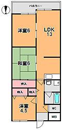 キャピタル新大宮[7階]の間取り