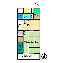 サンハイツII(介良)[2階]の間取り