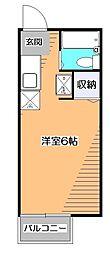 東京都小平市学園東町1丁目の賃貸アパートの間取り