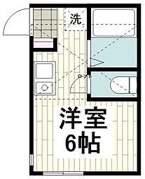 相鉄いずみ野線 弥生台駅 徒歩2分の賃貸アパート 2階ワンルームの間取り