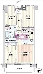 パレステージ片倉町ナチュラコート[1階]の間取り