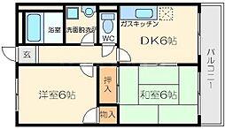 上新庄島田マンション[3階]の間取り