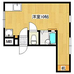 ラ・メゾン長崎6[201号室]の間取り
