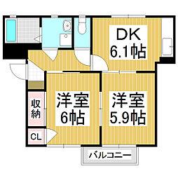 フォーレスコバヤシ[2階]の間取り