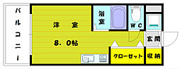 ハーモパレス福岡[2階]の間取り